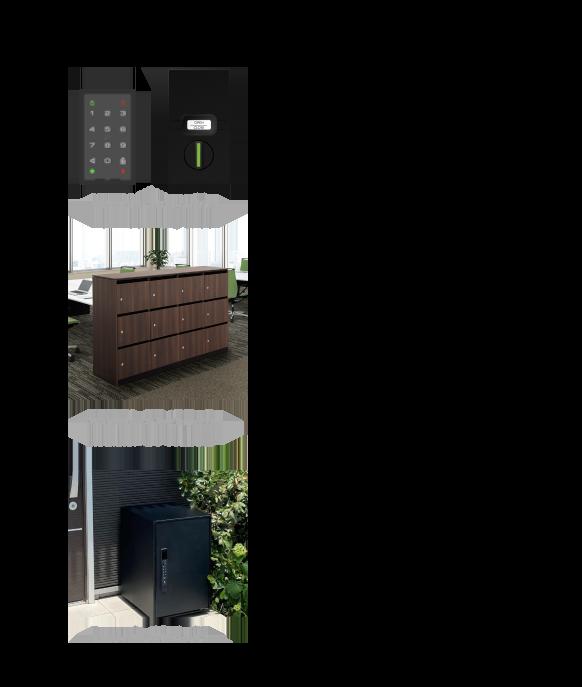 MULTILOCK bitkey edition / OKAMURA - オフィスロッカー / Panasonic - 宅配ボックス