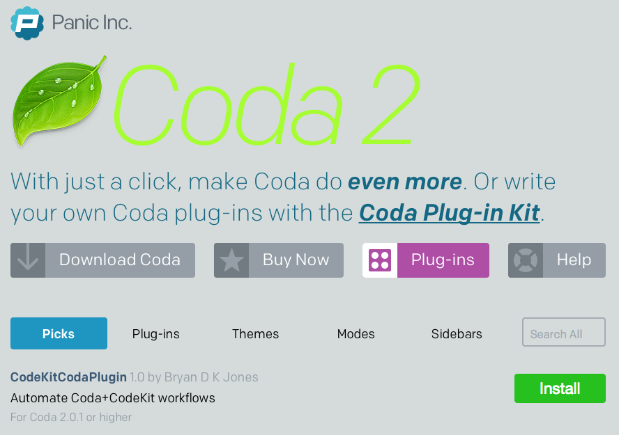 Coda2.5 プラグイン紹介