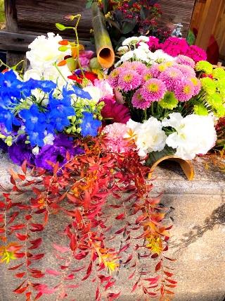 勝林寺の花手水