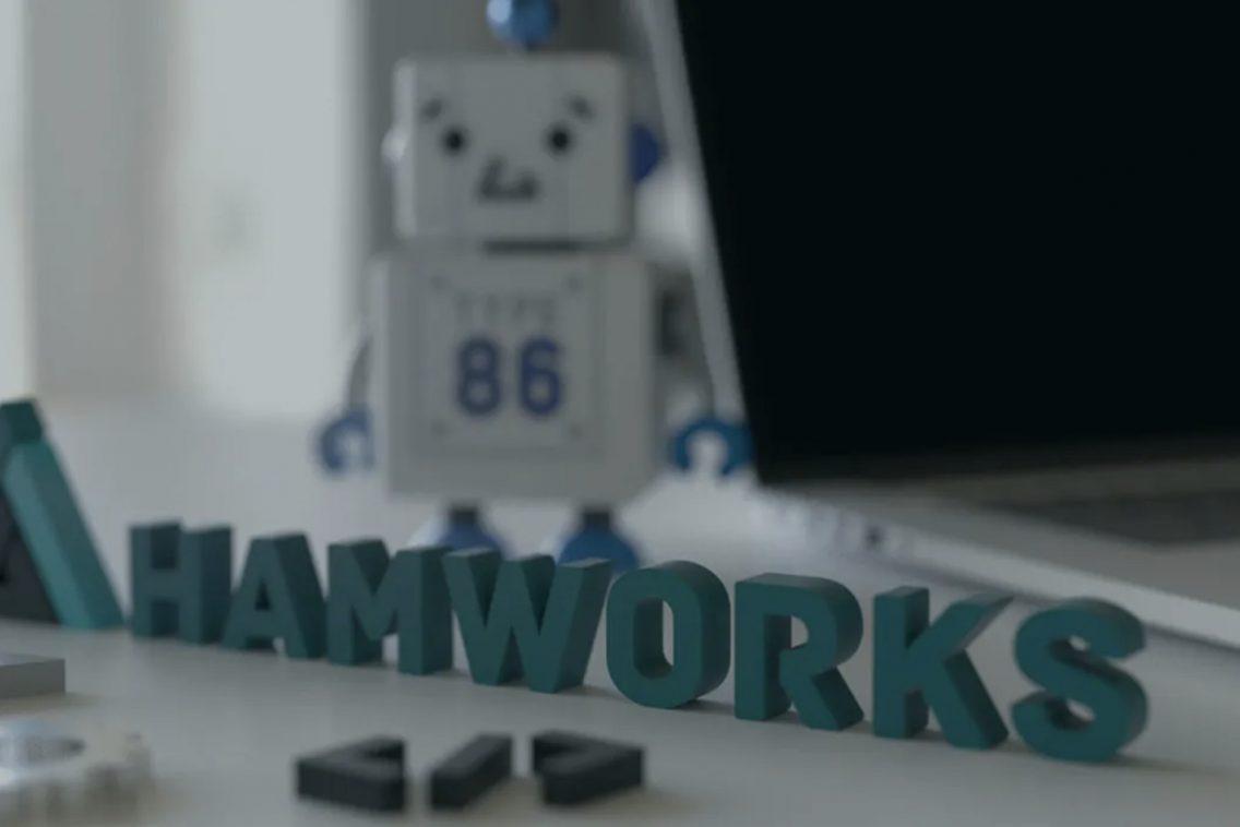 HAMWORKSウェブサイトビジュアルキャプチャ画像