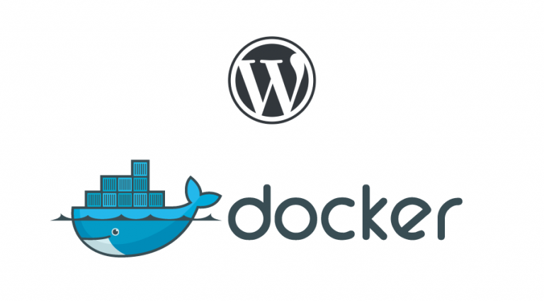 WordPressとDockerのロゴ