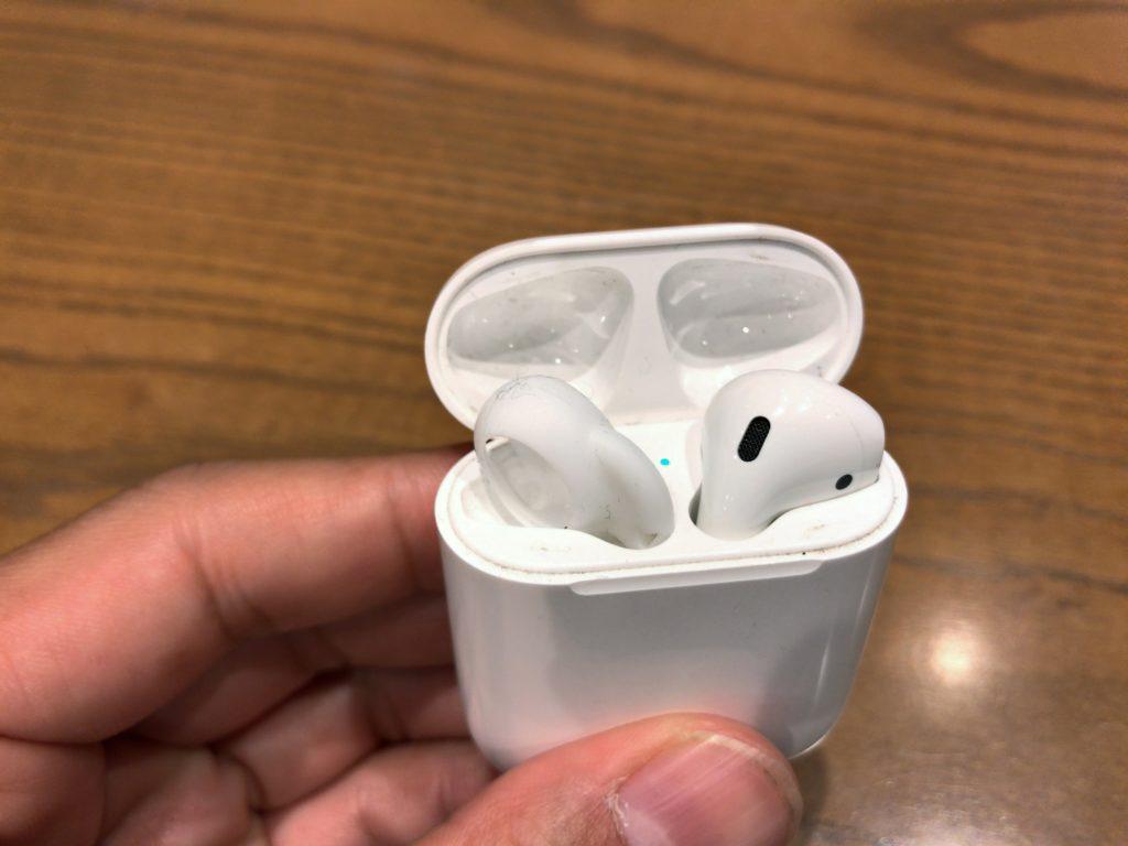 AirPods 片耳だけで使用方法 イヤーチップ
