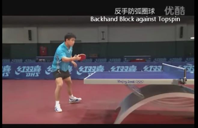 王皓(ワンハオ) Wang Hao テクニック動画⑫ 解説 裏面でのドライブに対するブロック