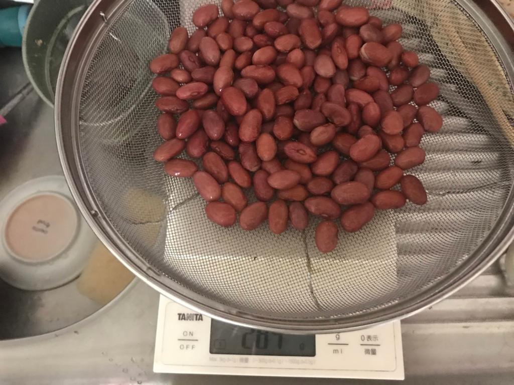 ヘルシオで金時豆