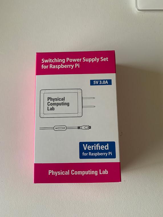 Raspberry Pi用電源セット(5V 3.0A)