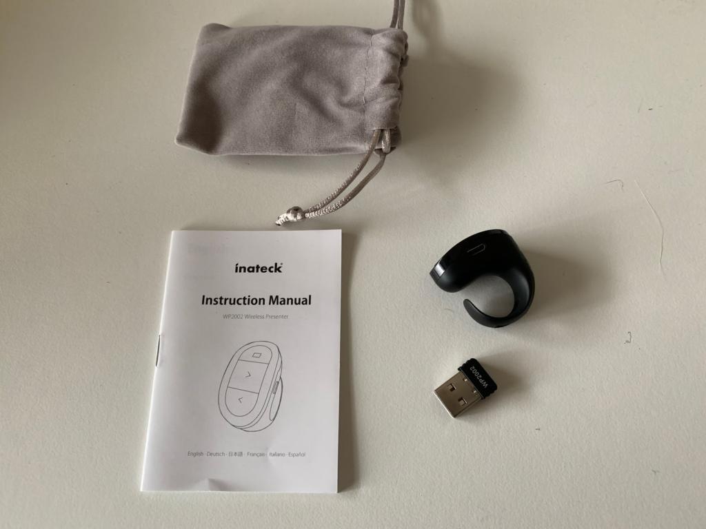Inateck 充電式ワイヤレス フィンガープレゼンター