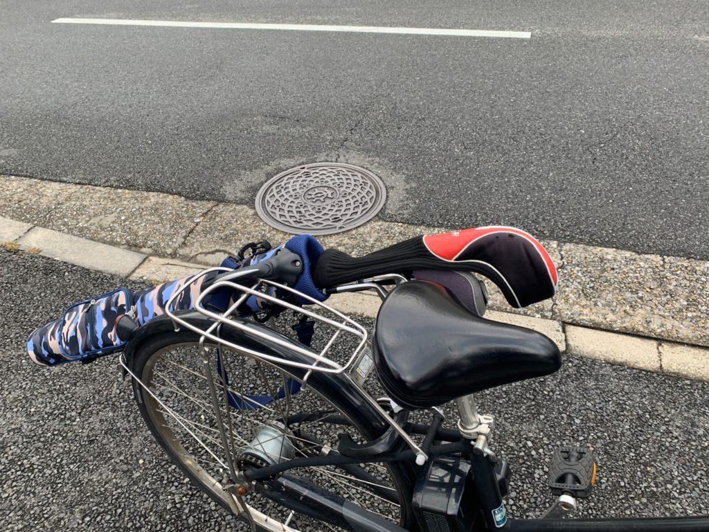 ゴルフハーフバッグ 自転車