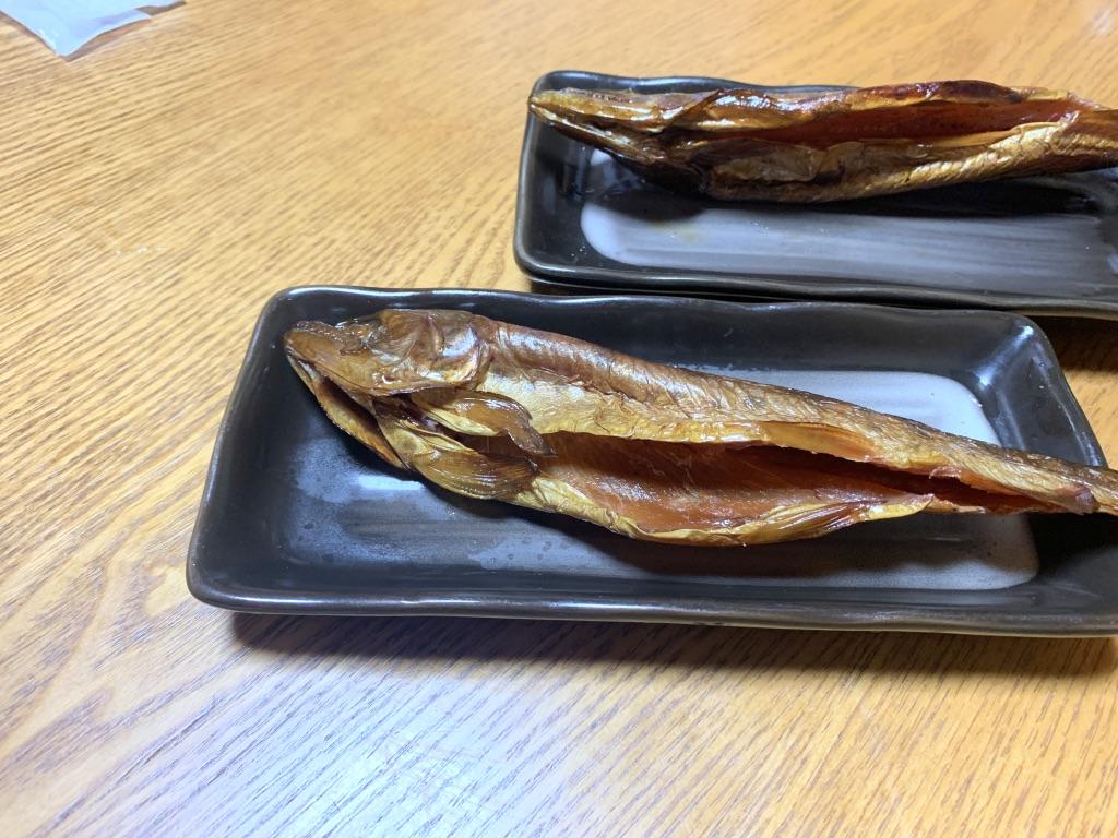 奥多摩駅 むら㐂 魚の燻製