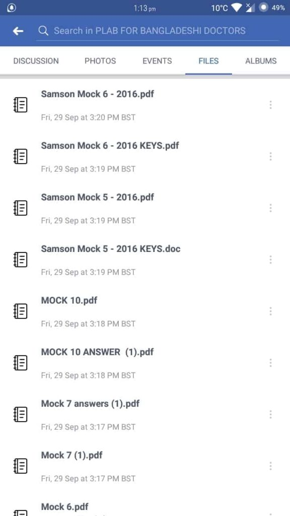 files section in facebook group
