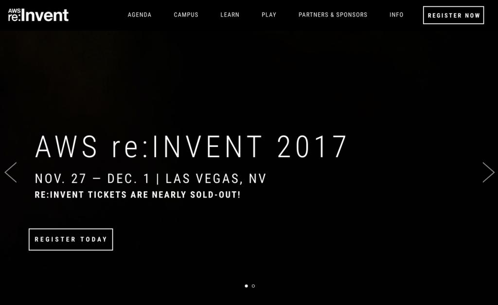 AWS ReInvent Screenshot