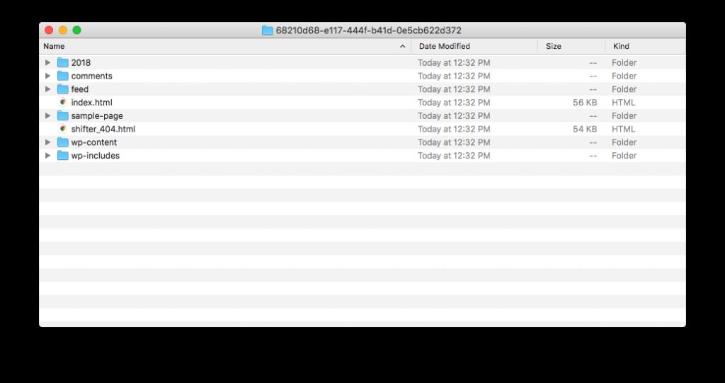 Shifter - Artifact Archive Folder