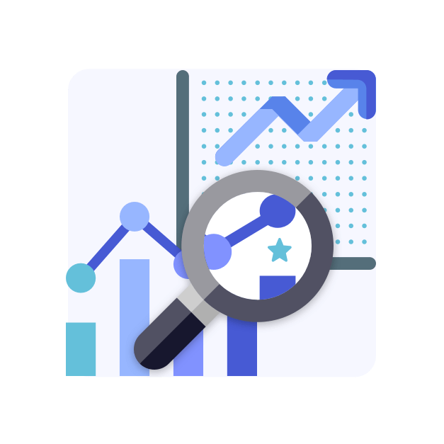 Startup Advisory magnifier to see growth chart