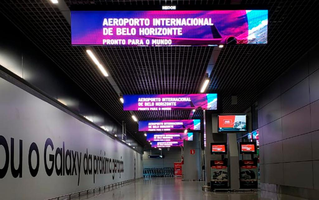 aeroporto de confins painel de led bh